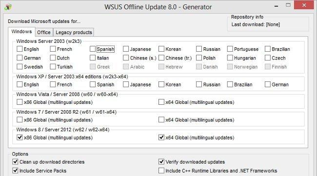 Nueva versión de WSUS Offline para permitir actualizar también Windows 8
