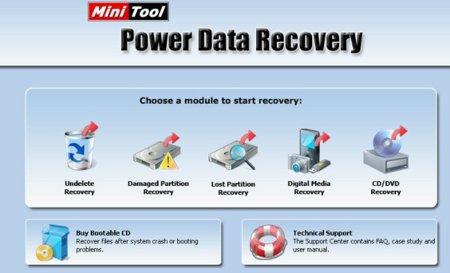 Recuperar datos perdidos con Power Data Recovery