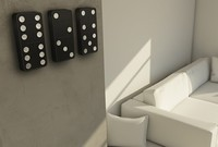 Detalle para la casa de... un jugador de dominó (II)