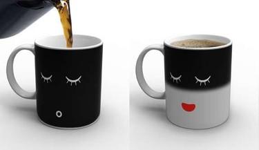 Morning Mug: la taza que se despierta cuando le añades café