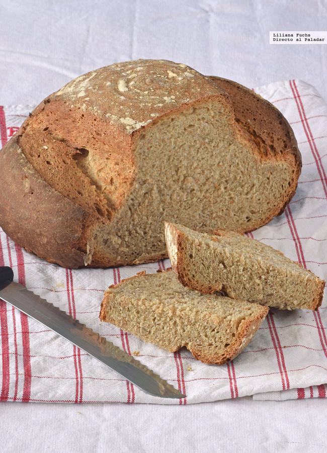 pan de trigo y centeno integral con masa madre