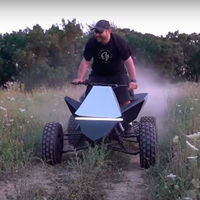 Un youtuber se ha adelantado a Tesla fabricando su propio Cyberquad eléctrico, ¡y puede remolcar un Humvee!