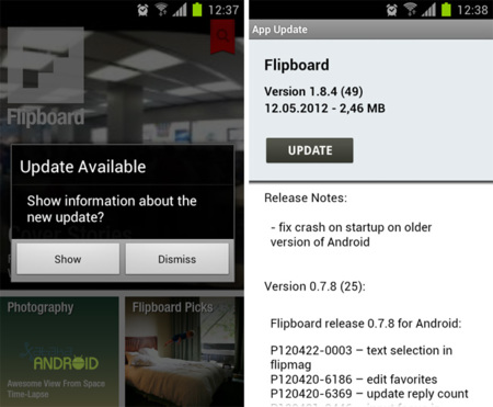 Flipboard para Android se actualiza