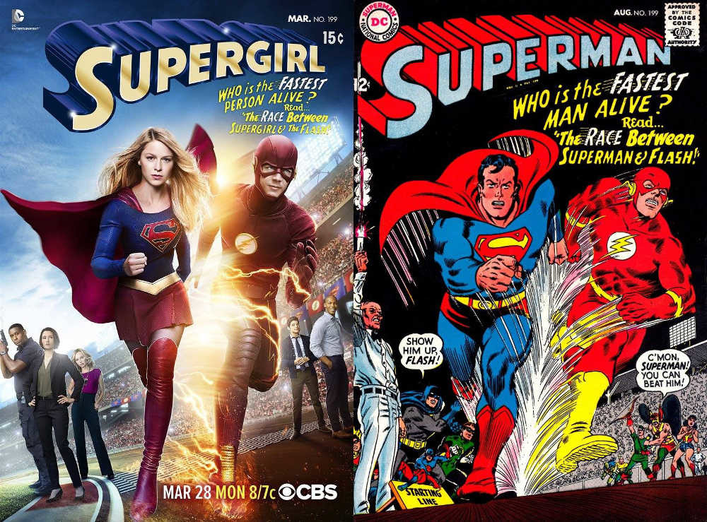Supergirl Superman Flash Crossover