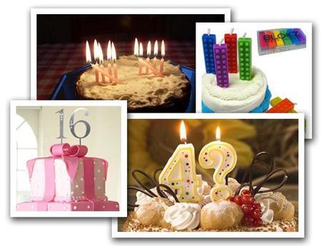 Velas originales para la tarta de cumpleaños