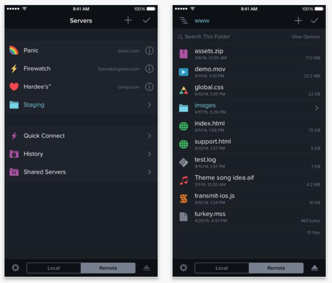 Otra prueba de que los tiempos cambian: Panic suspende las ventas de Transmit para iOS