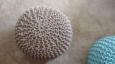 Puff trenzado de algodón por 49 euros y envío gratis en Amazon