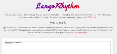 LangoRhythm, una aplicación web convierte el texto que escribes en música