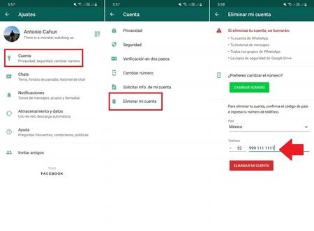 Como Eliminar Cuenta Whatsapp Android