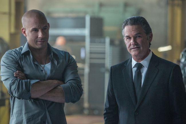 Vin Diesel y Kurt Russell en Fast and Furious 7