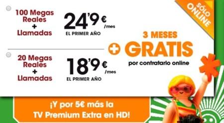 Euskaltel también promociona su conexión de 20 Mbps con tres meses gratis
