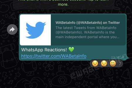 Así serán las reacciones de WhatsApp, según WaBetaInfo