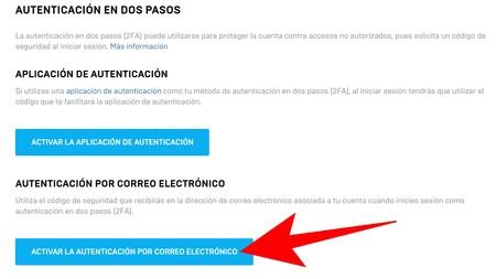 Activar La Autenticacion Por Correo Electronico