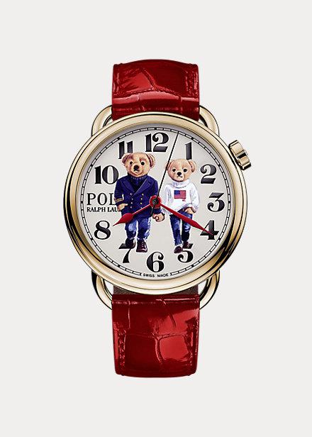 Reloj Ralph & Ricky Bear de oro rosa
