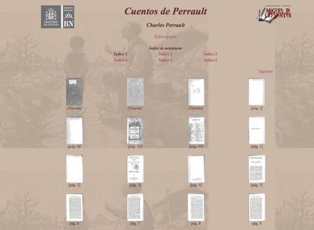 Cuentos de Perrault en la biblioteca virtual Miguel de Cervantes