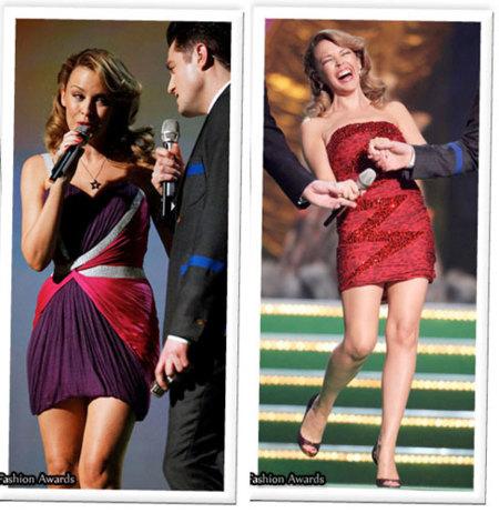 Kyle Minogue en los Brits 2009