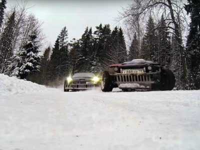 Una nueva batalla drifter en la estepa rusa: Corvette C6 Vs Supra
