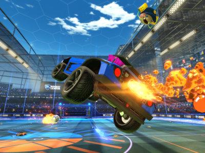 Sunset Overdrive decorará los vehículos de Rocket League en Xbox One