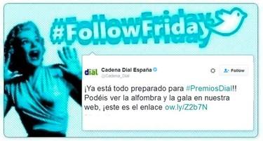 #FollowFriday de Poprosa: Los premios Cadena Dial se vieron en las redes