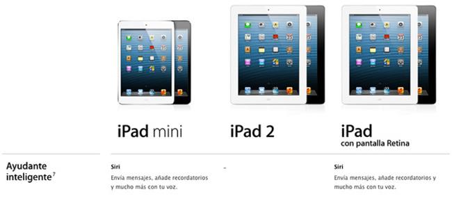 iPads con soporte de Siri