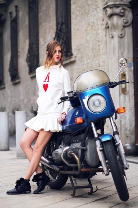 Chiara Ferragni vestida de David Delfín
