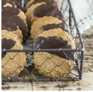 Receta fácil de galletas integrales con chocolate