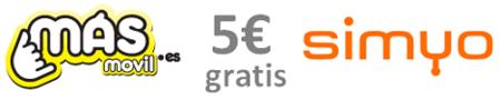 Cinco euros gratis por traer amigos a MásMóvil o Simyo