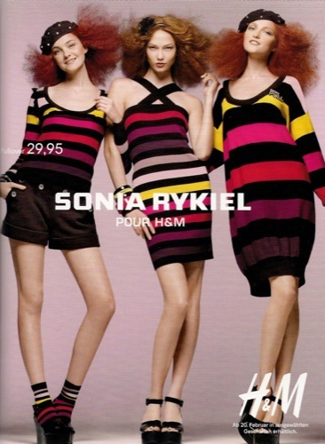 Colección exclusiva de Sonia Rykiel para HM, Primavera-Verano 2010. Mezcla
