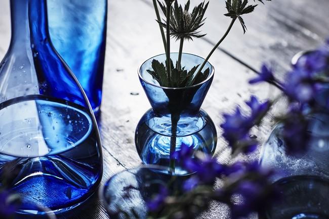 Ikea Coleccion Stockholm 2017 Ph141803 Portavela Florero Vidrio Azul Lowres