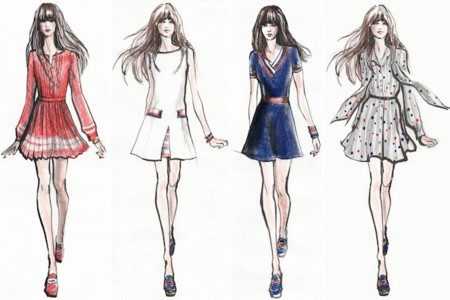 zooey tommy hilfiger bocetos