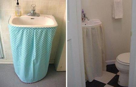 faldas para lavabo con pedestal