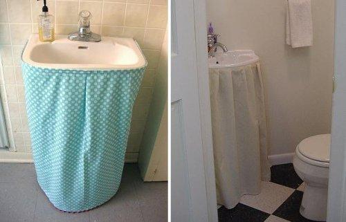 Cinco muebles y siete ideas para un lavabo con pedestal - Decorar muebles con tela ...