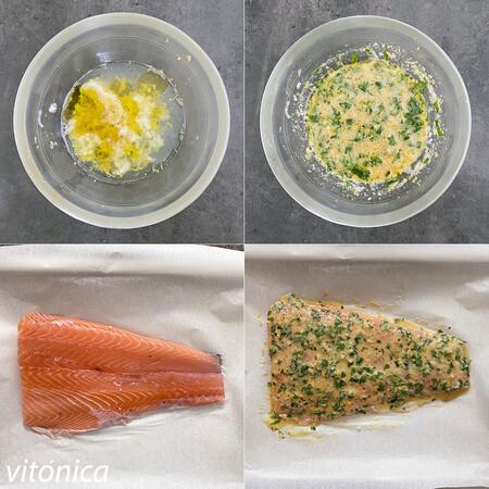 Salmon Horno Limon Pasos
