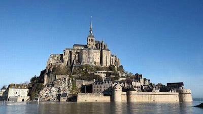 El Monte Saint-Michel vuelve a ser una isla antes de la Gran Marea prevista para el 21 de marzo