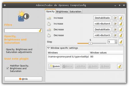 Opacidad Tooltips - Configuración 1