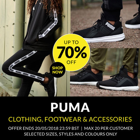 Ropa, accesorios y calzado deportivo Puma con hasta un 70% en SportsDirect