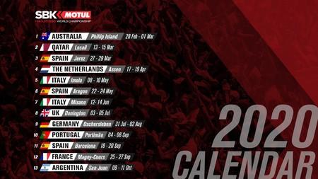 Calendario Sbk 2020
