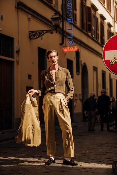 El Mejor Streetstyle De La Semana Pitti Immagien Uomo Camel Looks Spring 202010