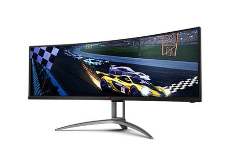Pantalla ultrapanorámica y curva: estos son el principal reclamo del AGON G493UCX, el nuevo monitor gaming de AOC