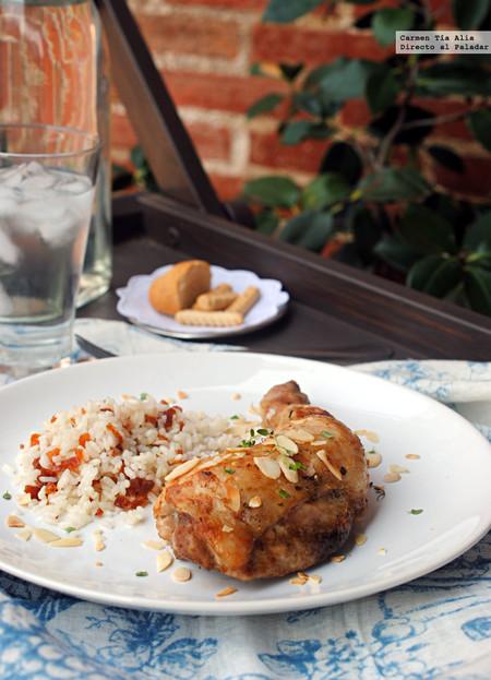 Pollo asado con tomillo, lima y especias tandoori: receta fácil y saludable