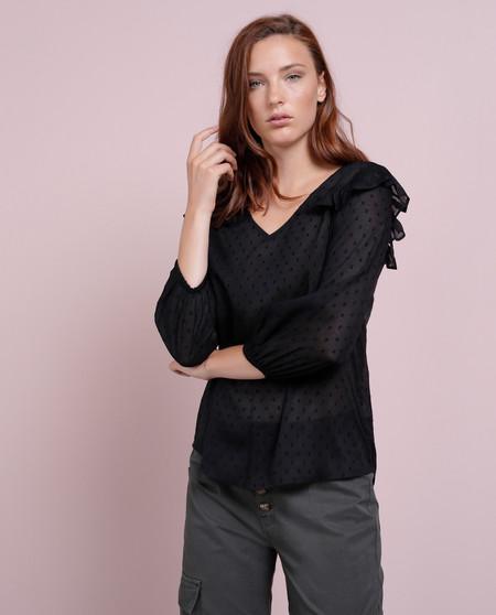 blusa plumeti negra el corte ingles