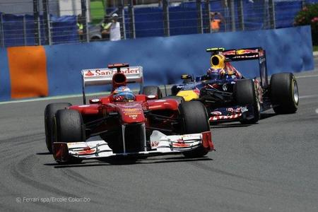 Fernando Alonso en el Gran Premio de Europa de F1 de 2011 en Valencia
