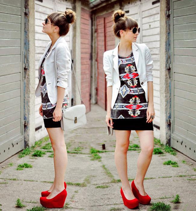 vestido geometría