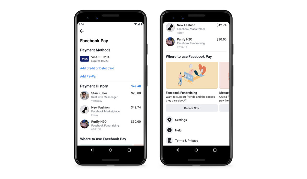 Facebook te mostrará anuncios utilizando tu historial de pagos de Facebook Pay