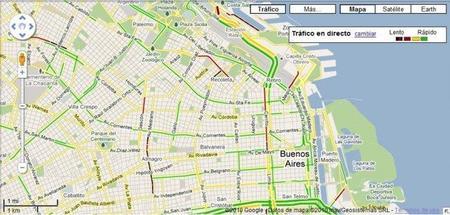 El estado del tránsito de Buenos Aires, ahora, disponible en Google Maps