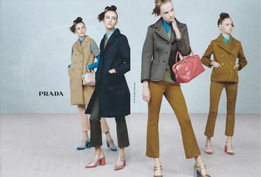 Prada y sus new faces se vuelven pop (y estáticas) en la campaña Otoño-Invierno 2015/2016