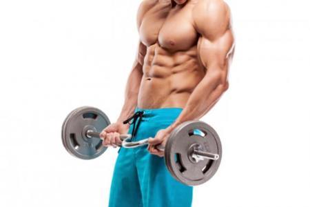 Hombre curl de bíceps