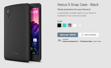Nexus 5 Snap Cases oficiales ahora disponibles en Google Play