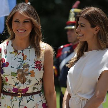 Melania Trump triunfa en Argentina con su vestido floral