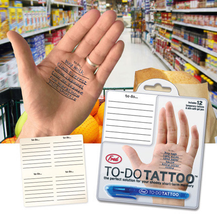 To-Do Tattoo, memoria manual